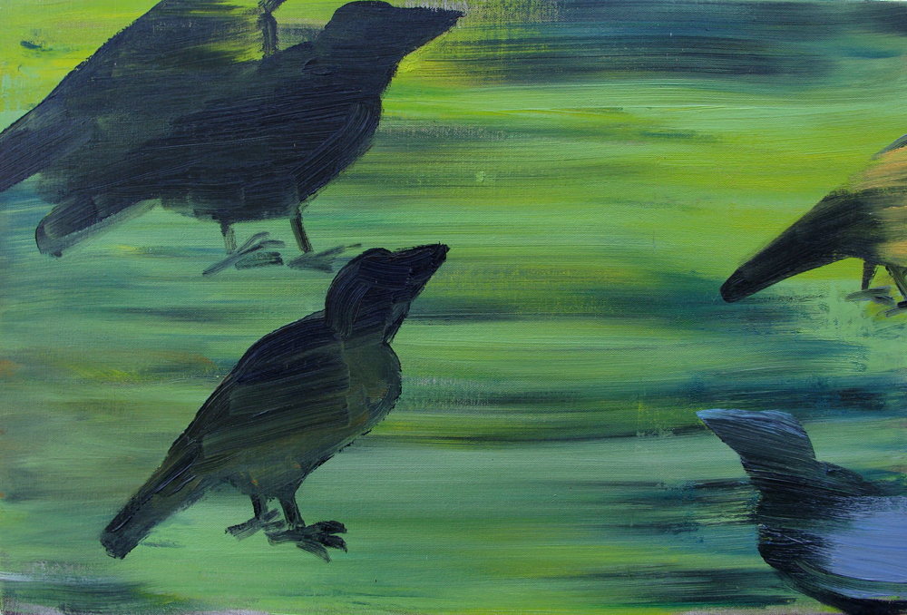 Crows. Oil on Canvas. 16x24in 1998