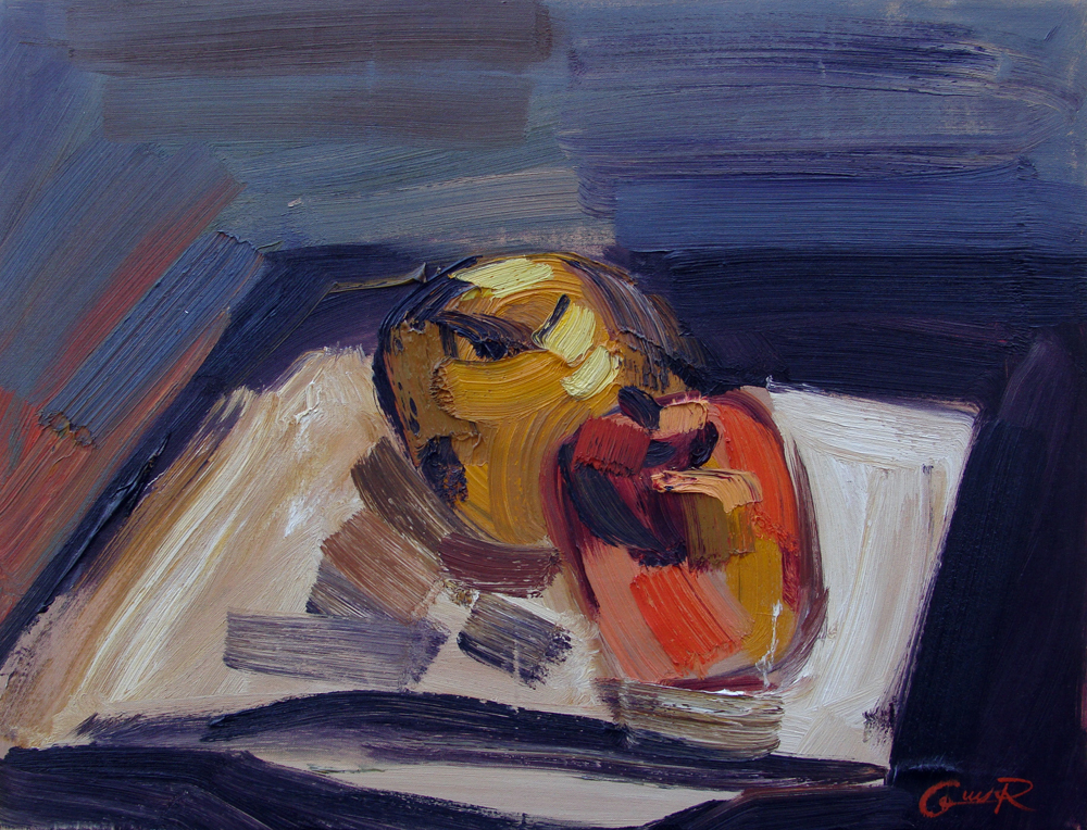 Still life with apples. Oil on Canvas. 20x26in. 1996