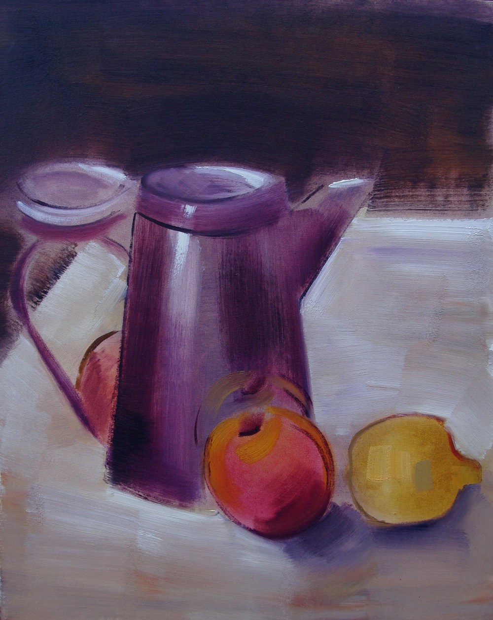 Still life with pitcher. Oil on Canvas. 19x24in. 1992